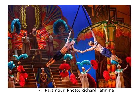 "Cirque du Soleil's ""paramour on Broadway, reviewed in travelersusanotebook.com by Fern Siegel"